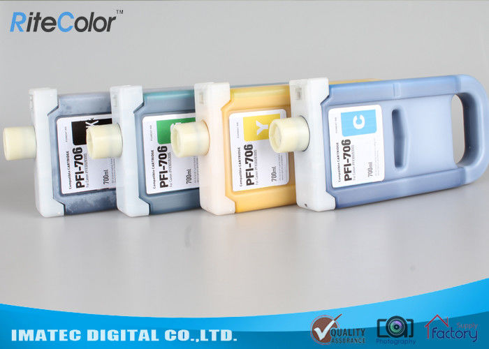 Pigment Based Wide Format Inks , PFi-706 Plug And Print Inkjet Ink Cartridge