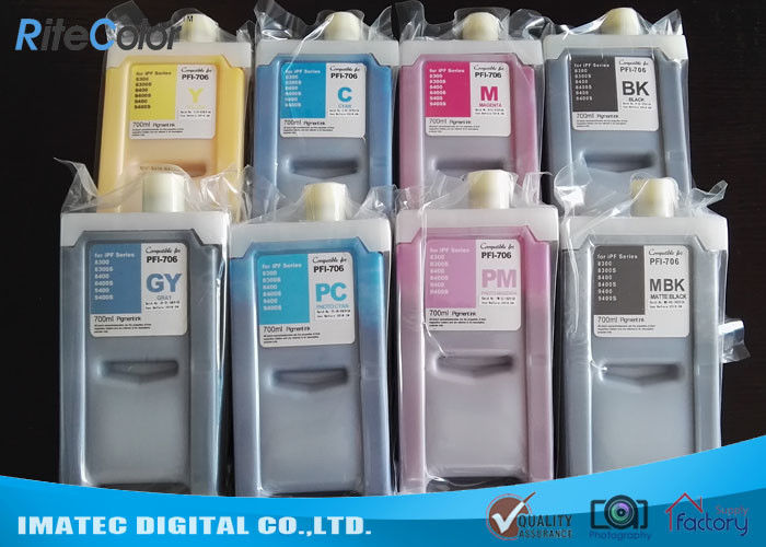 PFI 706 Large Format Ink Compatible Printer Cartridges 700Ml For Canon