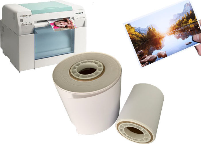 Microporous Inkjet RC Dry Minilab Photo Paper Roll Digital Printing For Fuji Dx100 / DE100