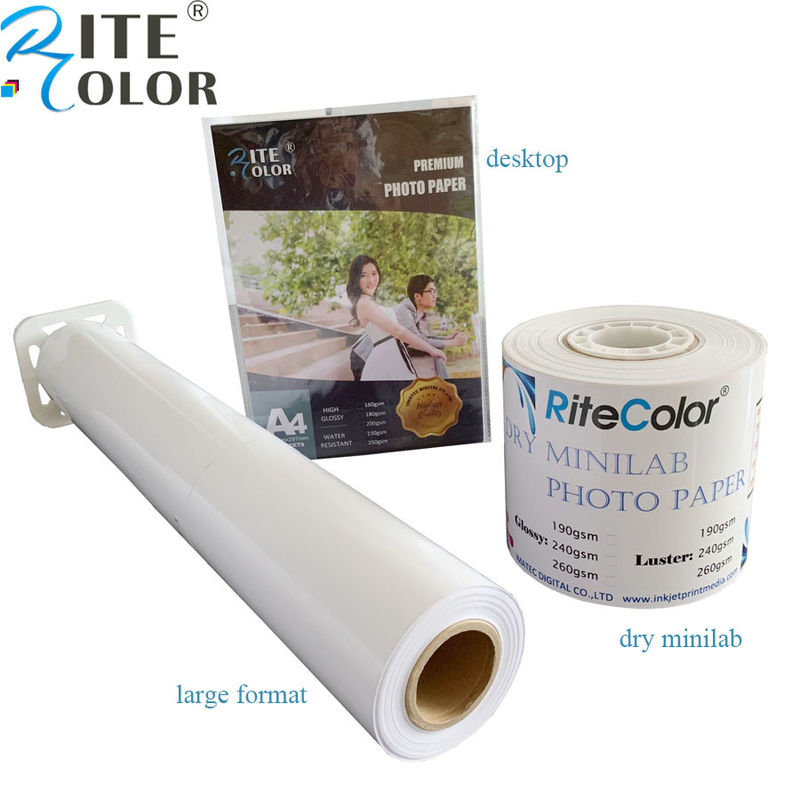 Inkjet RC glossy photo paper luster paper roll for Canon / Epson digital printing